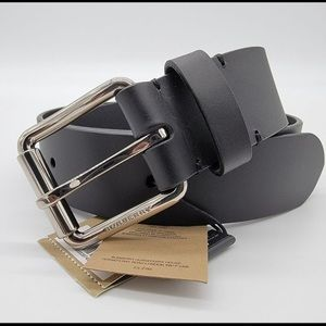 Burberry Leather Black Belt Size 90